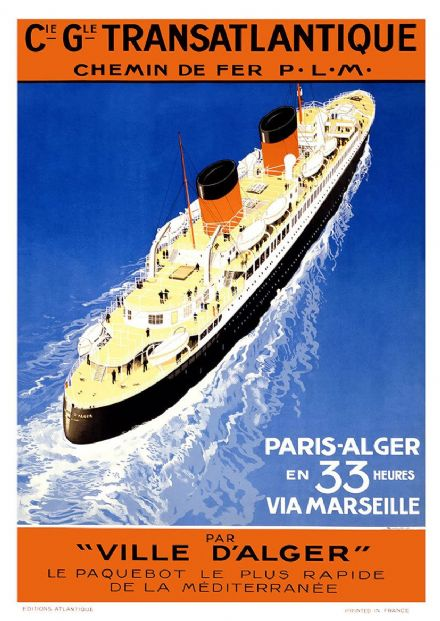 Vintage French Travel Print/Poster. Sizes: A4/A3/A2/A1 (002716)